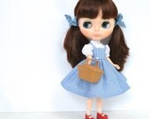 Dorothy Costume from The Wizard of Oz for Blythe Kenner Neo and Custom Doll