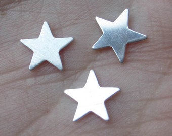 "Sterling Silver Star(size7.7mm or 1/4"" size)(23 gauge)set of 6"