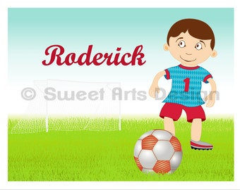 Soccer Player  -  Wall Print  (or)  Greeting Cards