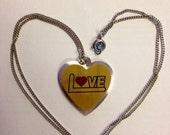 Vintage LOVE Heart Necklace DEADSTOCK