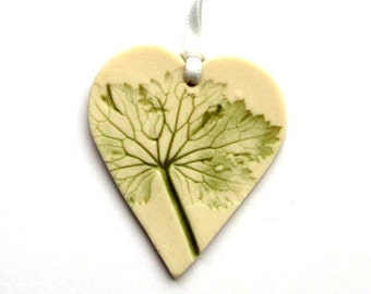 t Porcelain Hanging Heart Decoration, Home Accessories, Natural Decorations, House Warming Gift