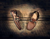 Tan Cowhide & Desert Camo Lambskin Boat Shoes - Brown Cowhide Details - MADE TO ORDER