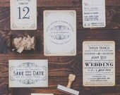 Steamside - Vintage / Steampunk Wedding Invitation Sample