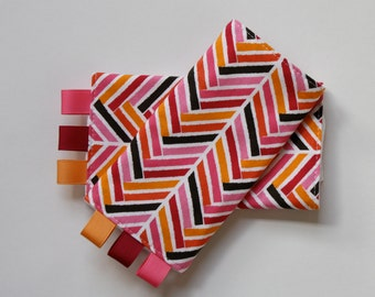Sucking Pads-Pink Herringbone - Fits Ergo, Tula, Babyhawk, Beco, and more baby carriers