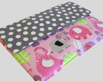 Microsoft Surface Case, Surface Book Case, Surface Sleeve, Surface Cover, Surface Pro 2 3 4 RT Case Polka Dot Elephants