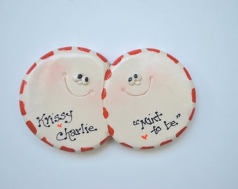 Personalized Christmas Peppermint Couple Ornament