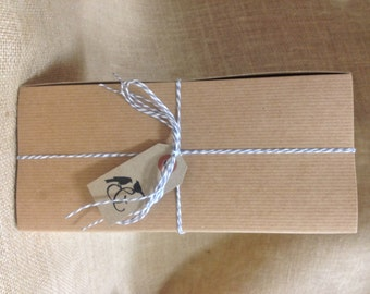 Extra Large Brown Kraft Boxes DIY - set of 20 - Great for Spirit Gifts - 4 1/2 x 4 1/2 x 10 Inches