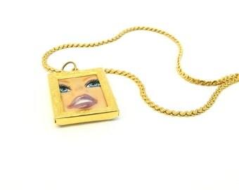 Barbie Face Necklace