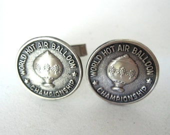Sterling Silver World Hot Air Balloon Championship Cufflinks by Bell Sterling