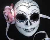 Spider Baby Mask, Day of the Dead full faced paper mache masquerade mask