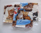 Cute kitty mug rugs