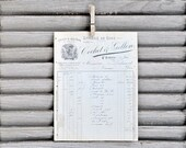 RESERVED french antique invoice - épicerie