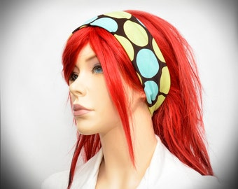 Polka dot stretchy headband
