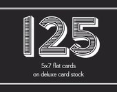 Printed Cards (125) 5x7 Cards on Deluxe Card Stock