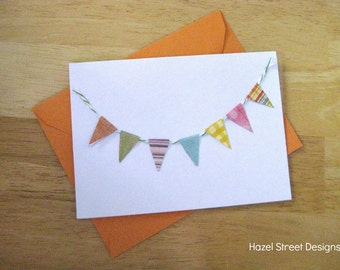 Pennant Flag Note Card