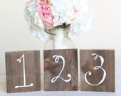 Wedding Table Numbers Rustic Chic Wood Barn Wedding (Item Number 140346)