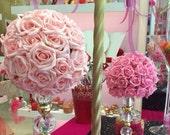Kissing Ball Rose Pomander Tall Centerpiece Weddings Best Priced Pomanders on Etsy