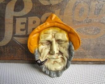 Vintage Cast Fisherman Salty Dog Nautical Decor