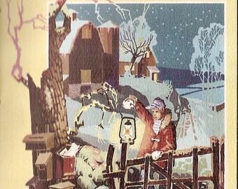 1960 AMERICAN Christmas Customs traditions holly wreath mistletoe popcorn cranberries vintage booklet