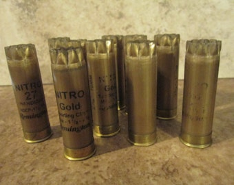 200 Nitro Gold shotgun shells hulls, Remington, gold brass ends, shot gun bullets, empties, empty fired used, 12 gauge GA