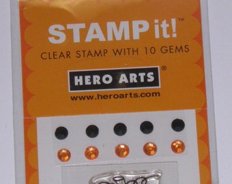 ON SALE  Pumpkin Rubber Stamp