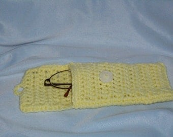 eye glasses or cell phone cozy.