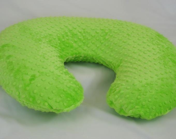 Green Boppy Pillow Cover Nursing Pillow Lime