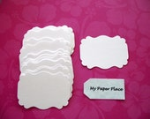 50 White  Bracket Cards-Escort cards-Tags-Journaling-Scrapbooking  free secondary shipping