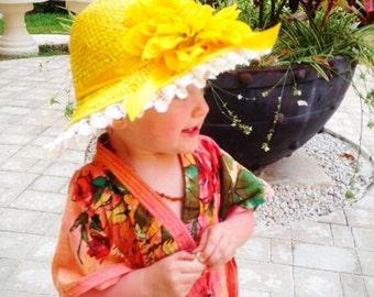 Flower Girl Kaftan - Child Caftan Robe, Kids Robes, Perfect Flower girl gift, Baby shower gift