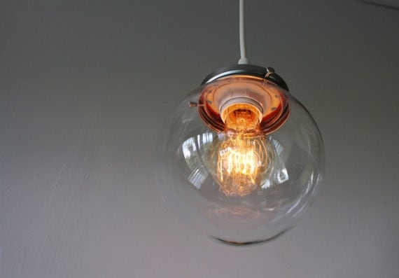 Crystal Ball Pendant Lamp Hanging Light With A Clear By
