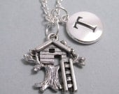 Treehouse Charm Silver Plated Charm Silver Plated Charm Supplies