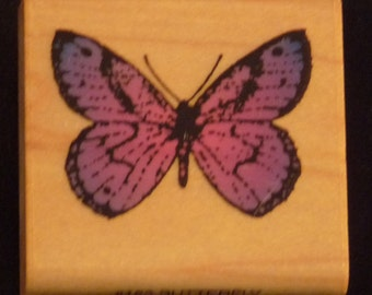 Butterfly - Lovely & Rare WM Rubber Stamp - Cards - Crafts - ATC - Domino Art - Scrapbooks - FREE Shipping