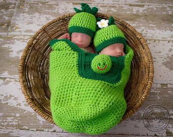 704 Twins Cocoon and Hat Digital Crochet Pattern