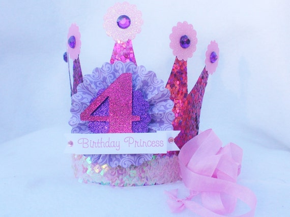 Sparkly Pink and Purple Princess Crown Party by ...