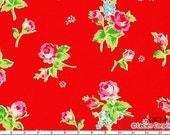 FLOWER SUGAR 2013 Japanese, Lecien, Tossed Roses in Red, 1/2 yard