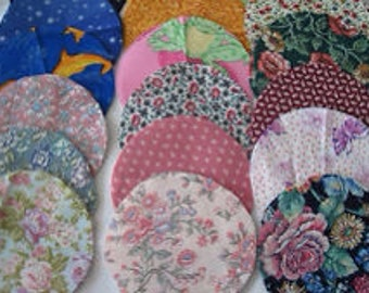 "Qty (100) Pre-Cut 3"" Circles 100% Cotton Quilt Fabric"