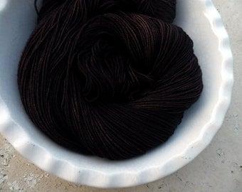 Coffee With Amos --Buff Sock-- Hand Painted Superwash BFL Wool/Nylon Sock Yarn