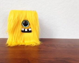 Yellow Cyclops Mini-Monster Journal- One Turquoise Eye