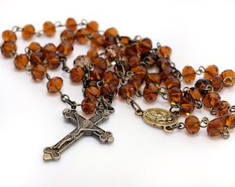 Topaz Glass Rosary