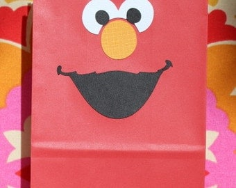 Elmo Birthday Favor Bags