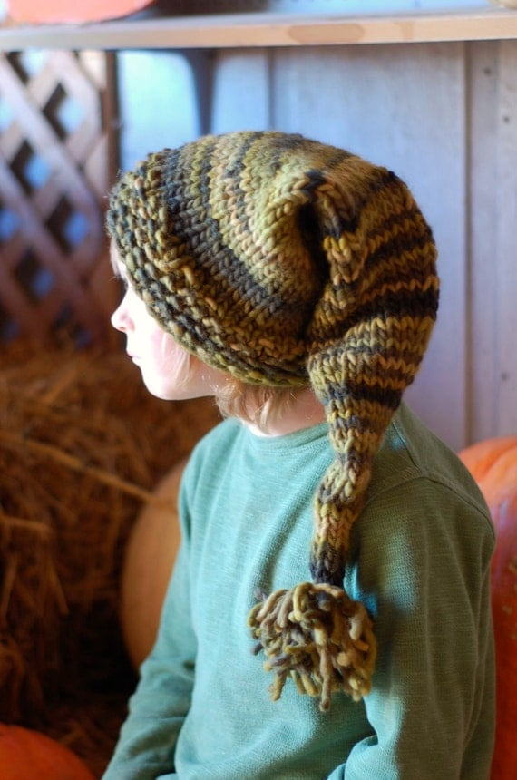 Snake Cushion Knitting Pattern : PDF ebook - Knitting Patterns - Knit Cowl, Pixie Pom Pom Hat, Fingerless Mitt...