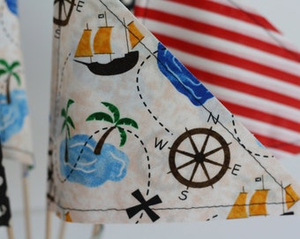 PIrate Party Pennants Set of 6
