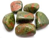 Unakite XL Tumbled Stone One Rock Hound Crystal Healing, Stones, Reiki, Feng Shui, Pocket Stones