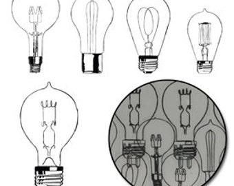 Eureka Light Bulb Transparencies - Black by Maya Road