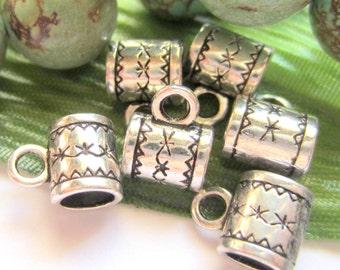 28 jewelry Charm hangers antique silver pendant hangers bead hangers 11mm x 8mm A0417-R (L4),