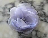 6 pieces   lilac organza  flowers
