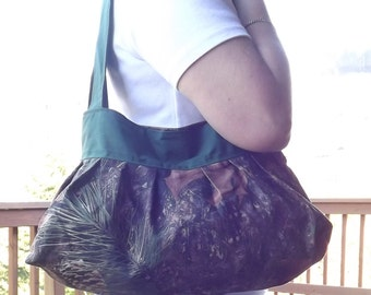 Camo and hunter green sunday purse