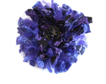 Purple Frilly Flower Brooch