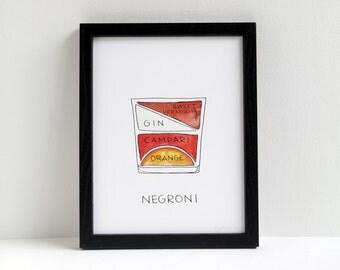 Negroni Cocktail Diagram