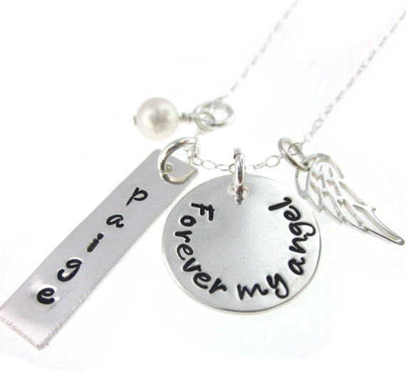 Forever My Angel - Hand Stamped Jewelry Memorial Necklace